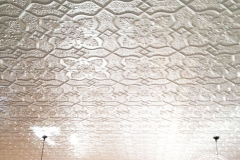 Pressed Tin Panels Shield ceiling