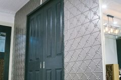 Carnivale & Clover Feature Wall in Platyus Kinetic Pearl Powder Coat
