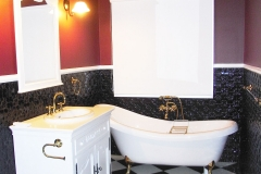Original in Black Gloss Bathroom Dado Wall