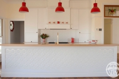 Pressed Tin Panels Original Kitchen Splashback  and Counter Front Feature Bright White