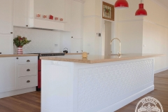 Pressed Tin Panels Original Kitchen Splashback  and Counter Front Feature Bright White Side