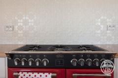 Pressed Tin Panels Original Kitchen Splashback  Stove Top Bright White