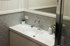 Pressed Tin Panels Original Bathroom Dado Wall Mercury Silver Sink