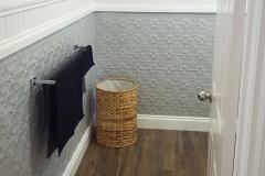 Pressed Tin Panels Original Bathroom Dado Wall Mercury Silver