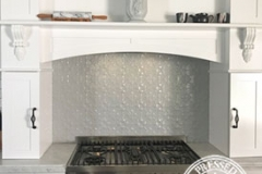 Pressed Tin Panels Original Kitchen Splashback Stove Top Feature Mercury Silver Close