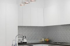 Kitchen Splashback original Mercury Silver