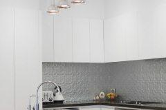 Kitchen Splashback original Mercury Silver