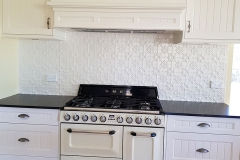 Pressed Tin Panels Original Kitchen Splashback Shoji White Powder Coat range Hood