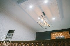 A dropped ceiling featuring the Provincial pattern & Maple Cornice