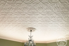 Pressed Tin Panels Shield Ceiling Feature White Thornton & Blake