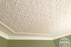 Pressed Tin Panels Shield Ceiling Feature White Main