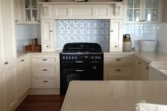 Spades Kitchen Splash Back- Mercury Silver