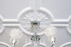 Two 60mm0x1200mm Temora panels create a ceiling rose
