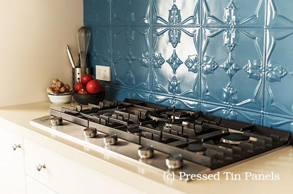 Wedgewood Blue Tulip Kitchen Splash Back