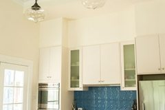 Tulip Kitchen Splash Back- Wedgewood Blue