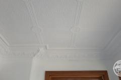 Pressed Tin Panels Victoria Ceiling White Egg & Grape Cornice
