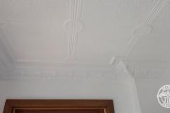 Pressed Tin Panels Victoria Ceiling White Egg & Grape Cornice Close