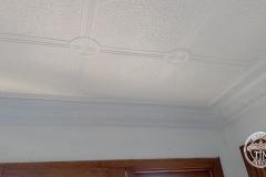 Pressed Tin Panels Victoria Ceiling White Egg & Grape Cornice Right Corner
