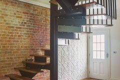 Shield Feature Wall & modern staircase
