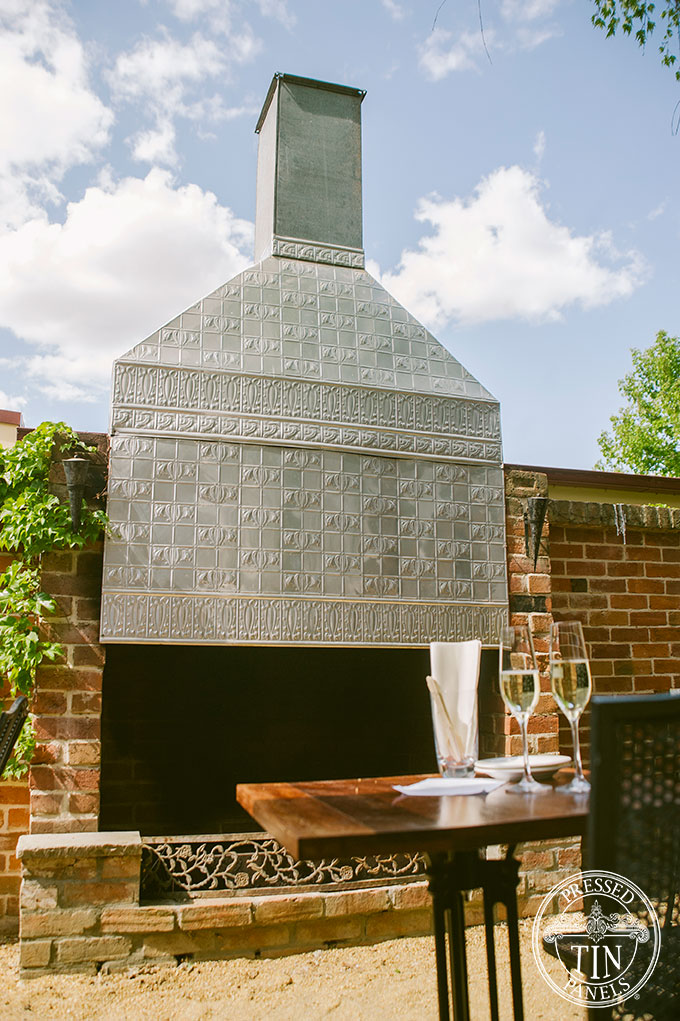 Outdoor chimney feature wall panel 9inety 2wo restaurant for Courtyard designs bathurst