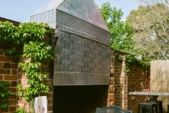 The Wall Panel features in this outdoor chimney