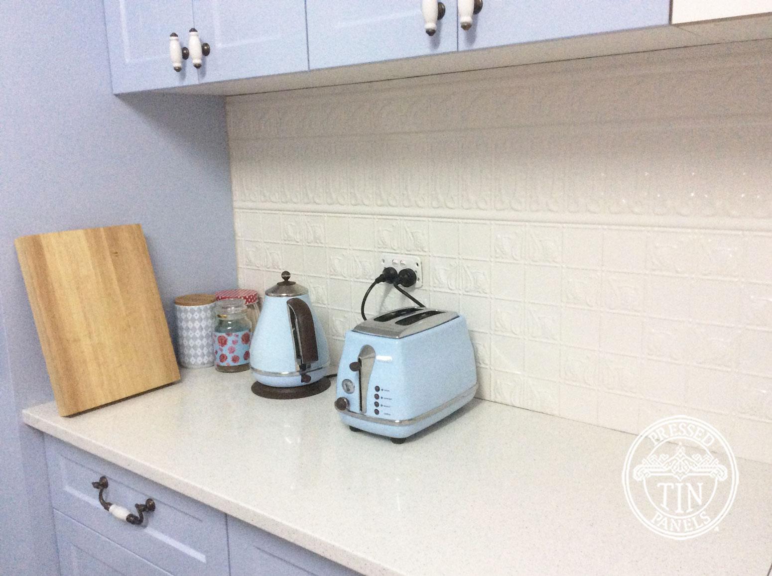 Pressed Tin Panels Wall Panel Kitchen Splashback Shoji White