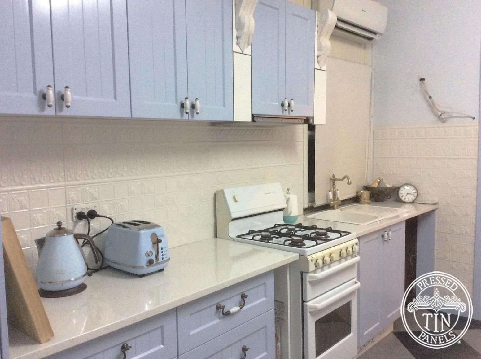 Pressed Tin Panels Wall Panel Kitchen Splashback Shoji White Full