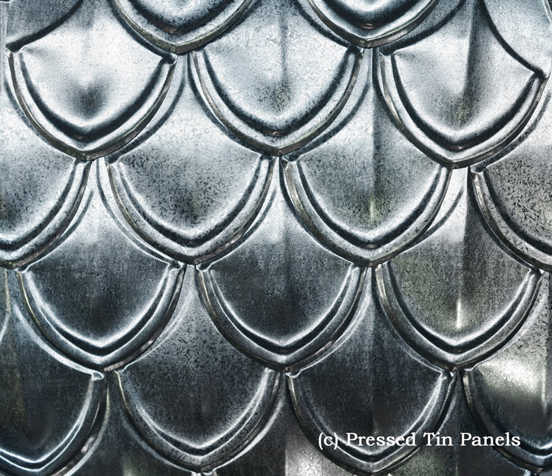 Fish scale shingles pressed tin panels for Fish scale shingles