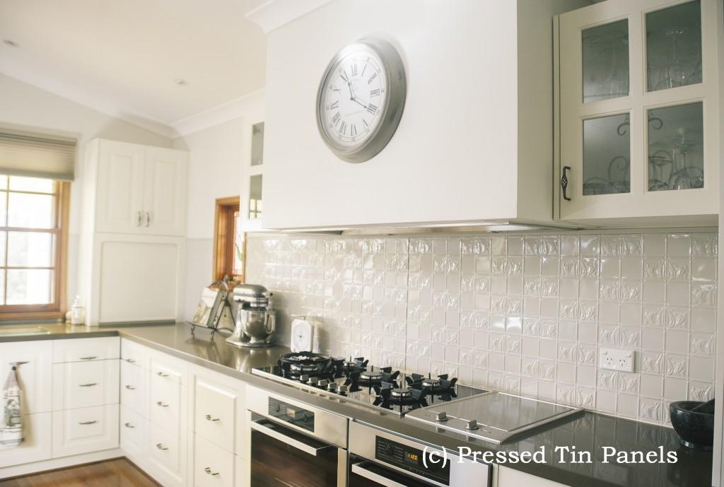 Wall Panel Kitchen Splash Back Shoji White Pressed Tin
