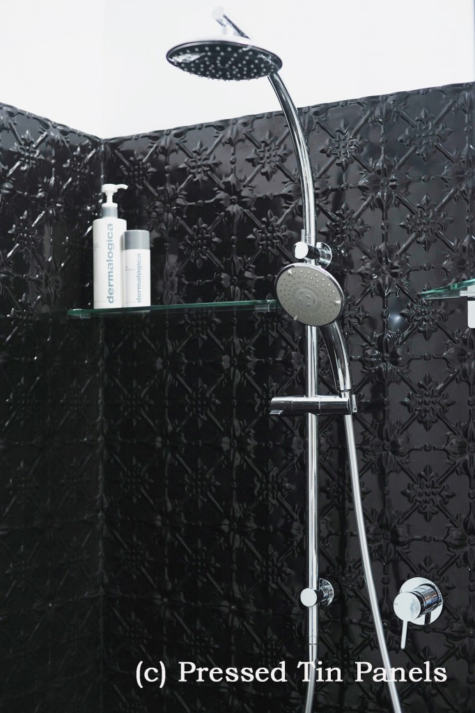 PressedTinPanels_Original900x1800_Bathroom_Shower_Recess_GlossBlack