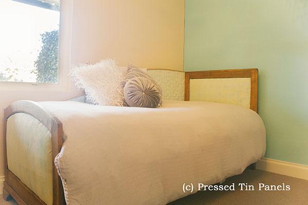 Original bed backboard pressed tin panels for Bed backboard designs