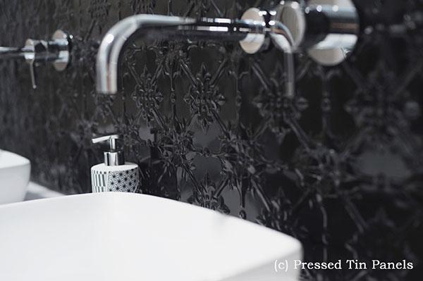 PressedTinPanels_Original900x1800_Bathroom_Splashback_GlossBlack_Slides