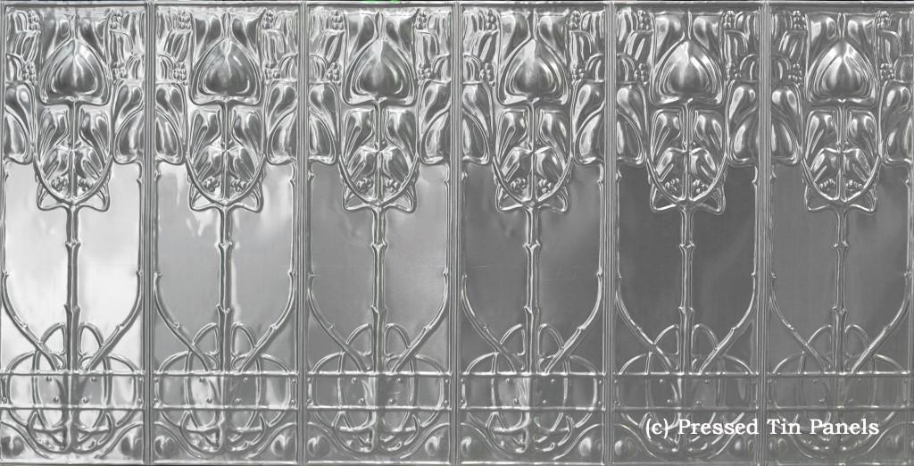 Art Nouveau full panel 922mm x 1837mm approx