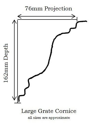 Large Grate Cornice profile information