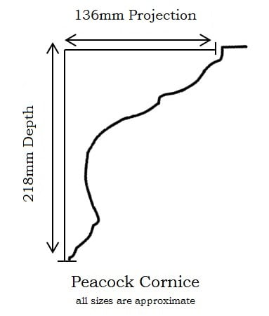 Peacock Cornice Profile Information: