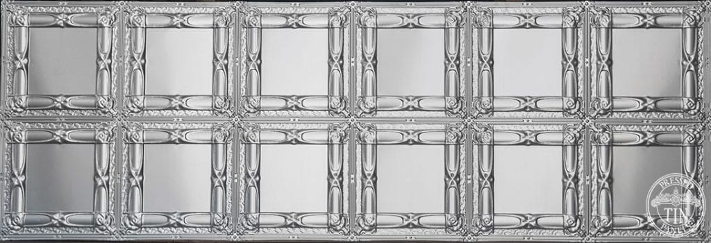 Full panel image example of Pressed Tin Panels Beresford pattern