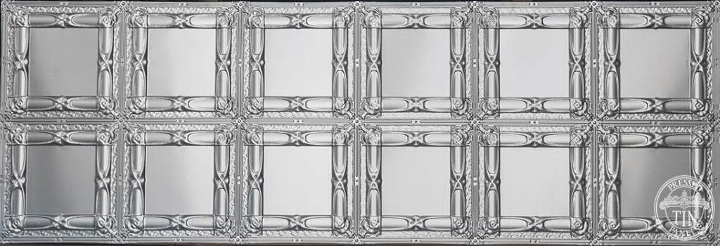 Full panel image example of Pressed Tin Panels Beresford pattern