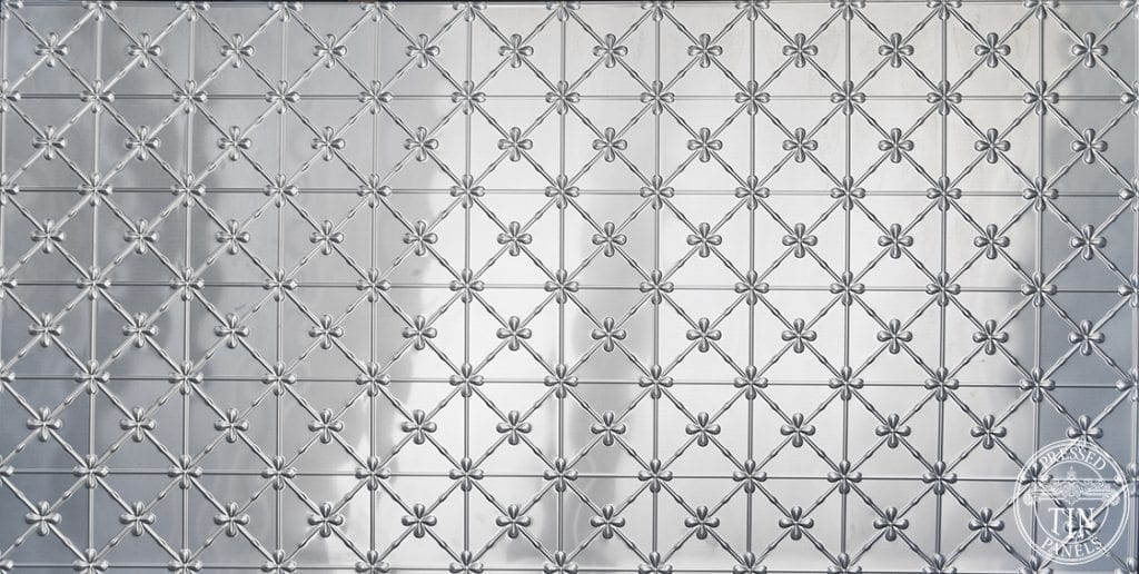 Pressed Tin Panels Clover pattern image example of Full panel
