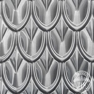 pattern image example of pressed tin panels fish scale pattern