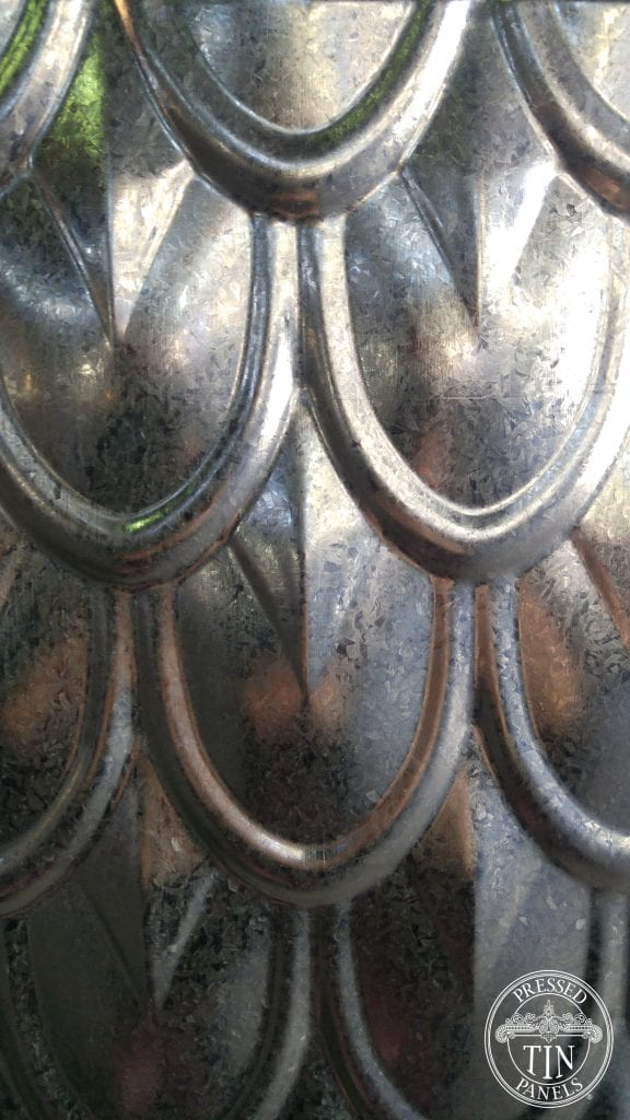 Fish Scale Galvanised panel