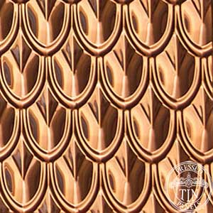 Fish Scale Copper: Image represents 340mm x 350mm approx. size