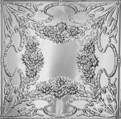 Pattern repeat image example of Pressed Tin Panels Flannel Flower pattern