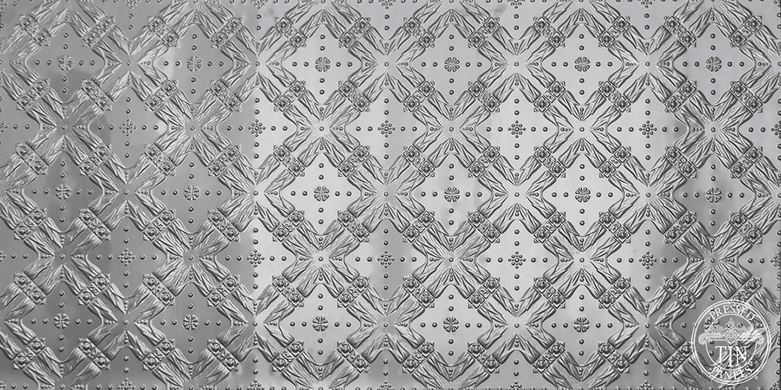 full panel image example of Pressed Tin Panels Golden Bay pattern