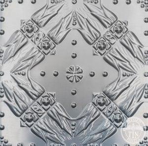 pattern repeat image example of Pressed Tin Panels Golden Bay pattern
