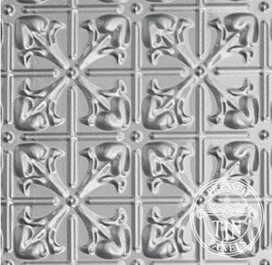 Image example of Pressed Tin Panels Lachlan Hearts design - Four Pattern Repeat