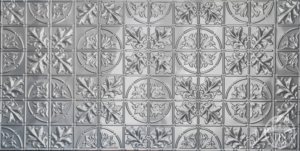 Full size panel image example of Pressed Tin Panels Large Maple pattern