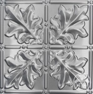 Pattern repeat image example of Pressed Tin Panels Large Maple pattern