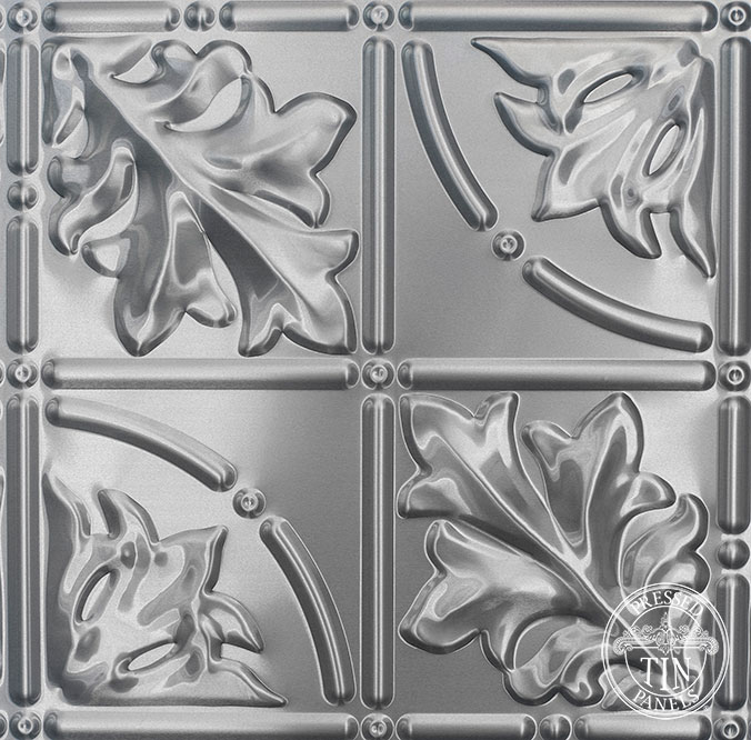 Pattern repeat image example of Pressed Tin Panels Large Maple pattern 3