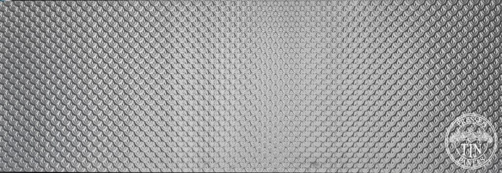 Pressed Tin Panels image example of full size Scallop pattern