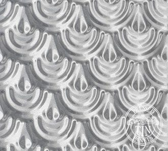 Pressed Tin Panels image example of Scallop pattern repeat